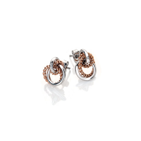 Hot Diamonds Rose Gold Plated Unity Circle Earrings DE611