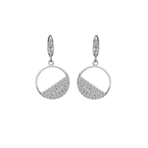 Hot Diamonds Horizon White Topaz Circle Earrings DE621