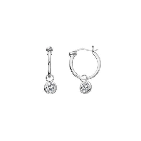 Hot Diamonds Hoops White Topaz Drop Earrings DE628