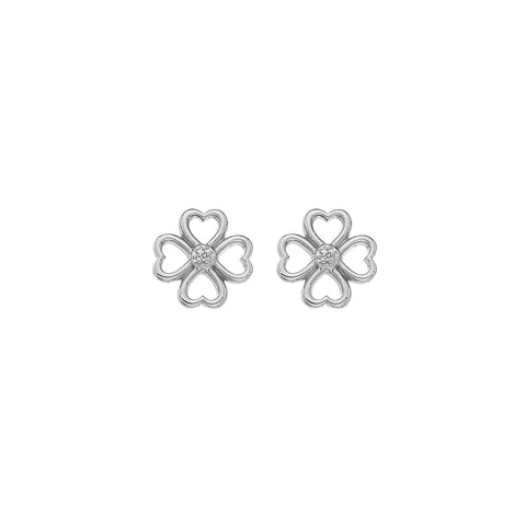 Hot Diamonds Lucky in Love Stud Earrings DE632