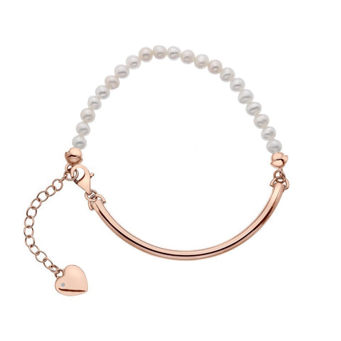 Hot Diamonds Rose Gold Festival Mother Of Pearl Bracelet DL304 2005059