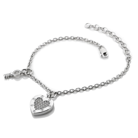 Hot Diamonds Lock In Love Bracelet DL561 2005162