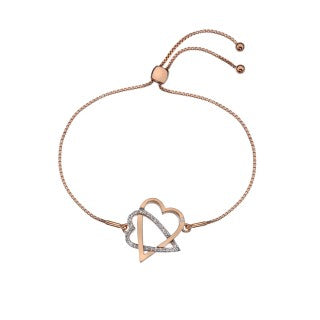 Hot Diamonds Adorable Rose Gold Plated Bracelet DL577