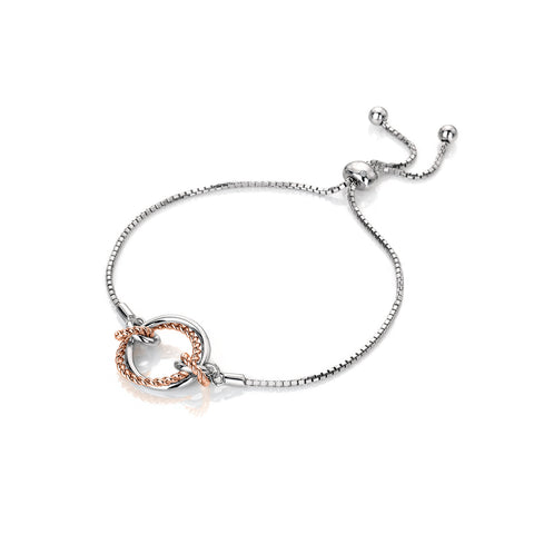 Hot Diamonds Rose Gold Plated Unity Circle Bracelet DL593