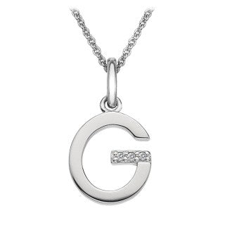 Hot Diamonds Love Letters Necklace Initial G DP407