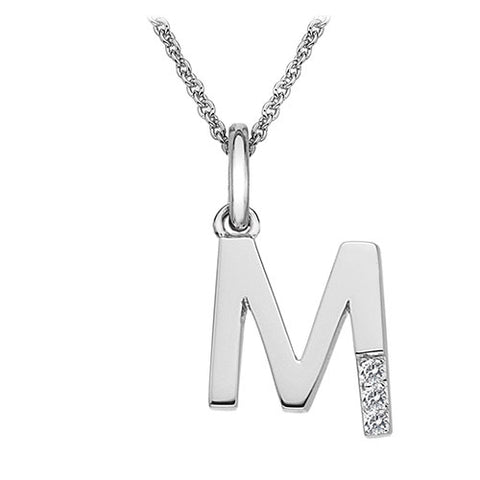Hot Diamonds Love Letters Necklace Initial M DP413