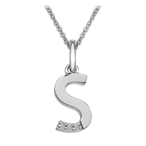 Hot Diamonds Love Letters Necklace Initial S DP419