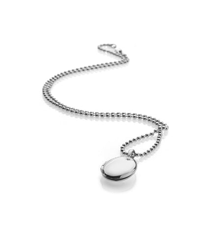 Hot Diamonds Confident Oval Silver Locket Pendant DP493 2004108