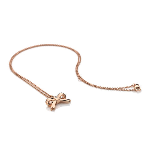 Hot Diamonds Rose Gold Ribbon Pendant DP631 2010021 XXX