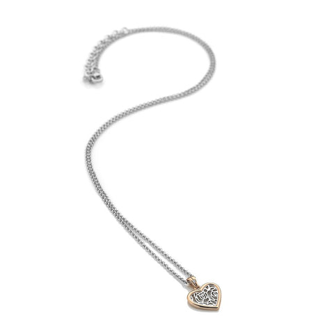 Hot Diamonds Two Tone Faith Heart Pendant DP657 2010032 XXX