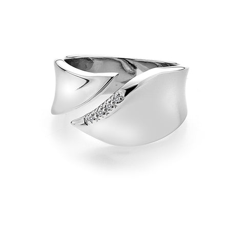 Hot Diamonds Pave Leaf Ring DR076 2001461