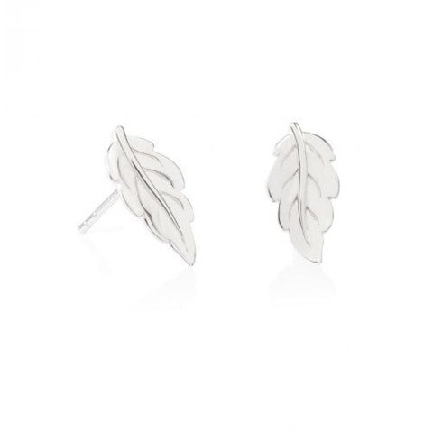 Daisy - Natures Way Large Mulberry Leaf Stud Earrings E2017 X