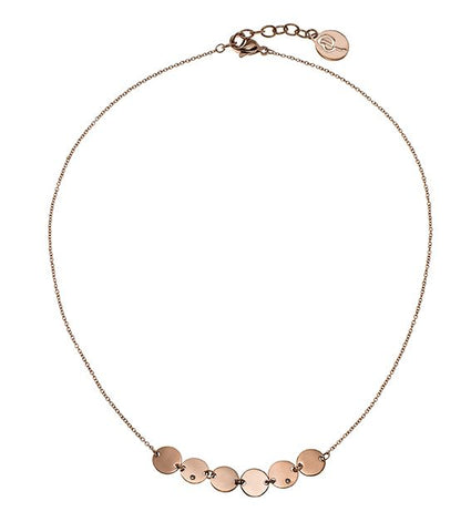 Edblad - Way Short Rose Gold Plated Stainless Steel Necklace
