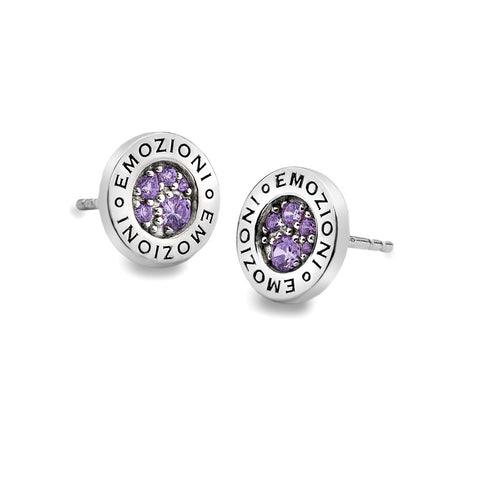 Hot Diamonds Emozioni Violet Spirituality Earrings EE006 2103022