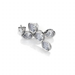 Hot Diamonds Emozioni Acqua D'Amore Triple Earrings EE039