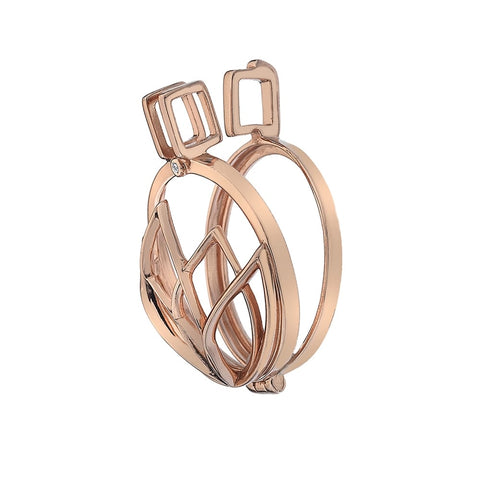 Hot Diamonds Emozioni Rose Gold Lotus Keeper 25mm EK037 ES013 2150007