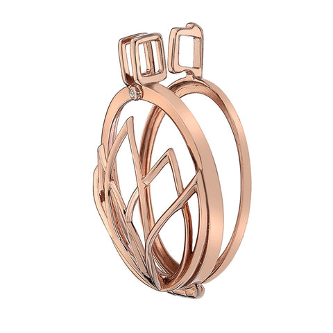 Hot Diamonds Emozioni Rose Gold Lotus Keeper 33mm EK038 ES014 2150008