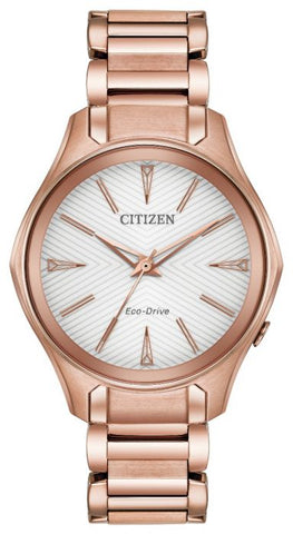 Citizen Modena Eco-Drive Rose Gold Watch EM0593-56A 1003308