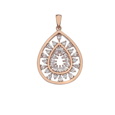 Hot Diamonds Emozioni Eleganza Rose Gold Large Devotion Layer Pendant Charm EP022 2150018