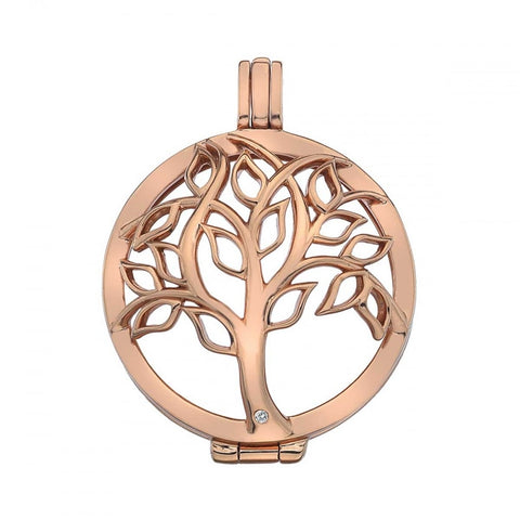 Hot Diamonds Emozioni Rose Gold Tree Of Life Keeper 33mm EK042 ES010 2150004 XXX