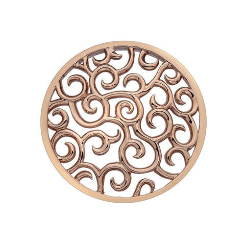 Hot Diamonds Emozioni Rose Gold Winding Path 33mm Coin EC152 2108137