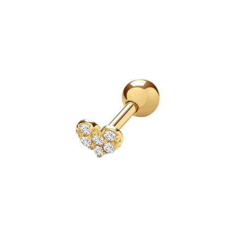 Nomination Hanging Silver & CZ Four-Leaf Clover Charm 331800 02