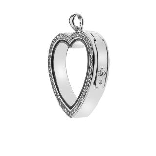 Hot Diamonds Anais White Topaz Love Locket Keeper EX011 AL011 2010012