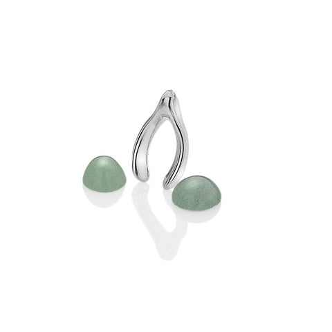 Hot Diamonds Anais Wishbone with Green Aventurine Charms EX092 AC001 2007154