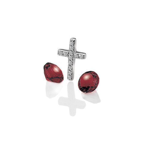 Hot Diamonds Anais Cross with Garnet Charms EX116 AC017 2007169
