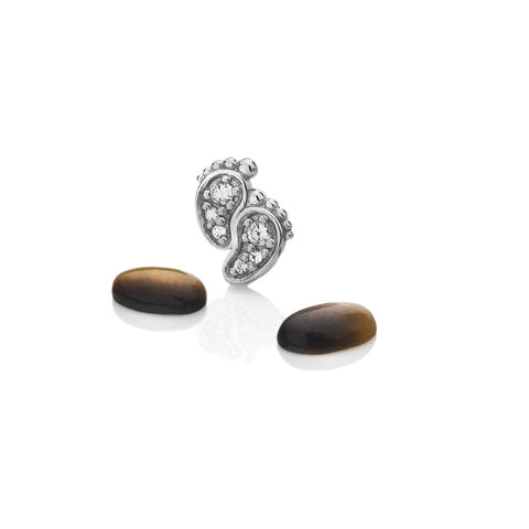 Hot Diamonds Anais Pitter Patter Feet with Tiger Eye Charms EX200 AC049 2007201