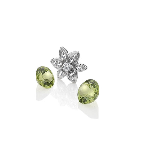 Hot Diamonds Anais Flower with Peridot Charms EX206 AC055 2007207