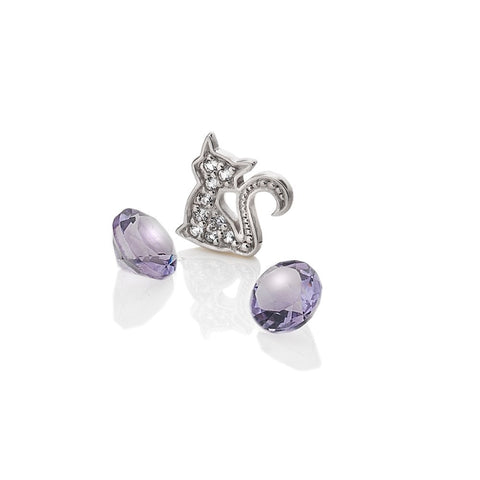 Hot Diamonds Anais Cat with Amethyst Charms EX218 AC067 2007219