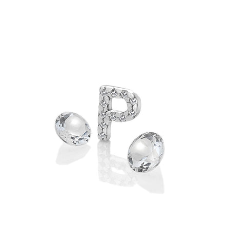 Hot Diamonds Anais Letter P with White Topaz Charms EX235 AC084 2007231