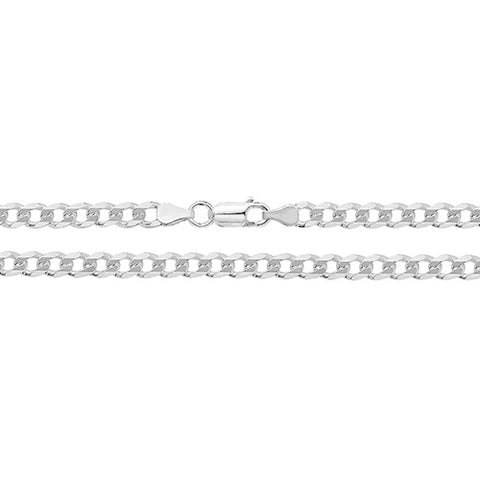 "Sterling Silver Filed Curb Chain 24"" G1001/24 0406218"