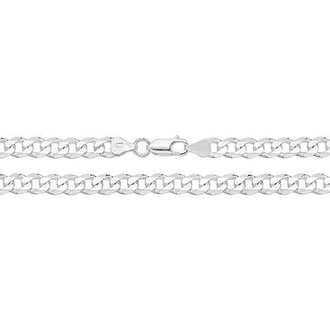 "Sterling Silver Filed Curb Chain 22"" G1002/22 0406219"