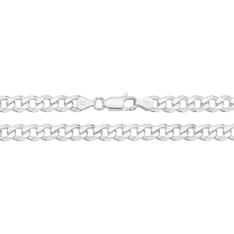 "Sterling Silver Filed Curb Chain 24"" G1003/24 0406223"