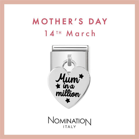 Nomination Limited Edition Silver Hanging Mum in a Million Charm 331811 02