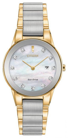 Citizen Ladies Axiom Diamond Two Tone Watch GA1054-50D 1003315