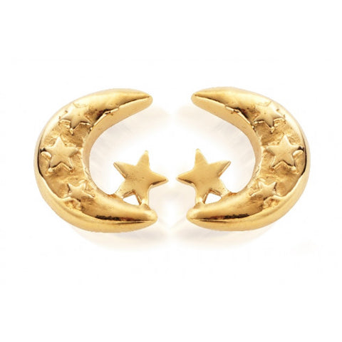 ChloBo - Gold Moon & Stars Stud Earrings GEST160 2203016