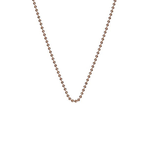 "Hot Diamonds Emozioni 30"" Rose Gold Bead Chain CH008 2104030"