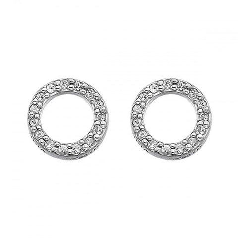 Hot Diamonds Bliss Circle Silver Earrings DE534