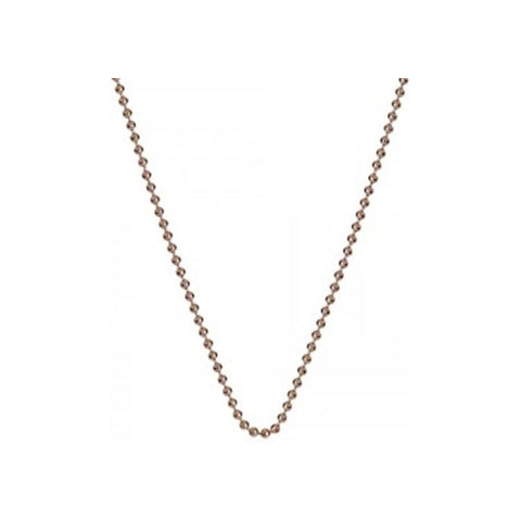 "Hot Diamonds Emozioni 24"" Rose Gold Plated Sterling Silver Bead Chain CH052"