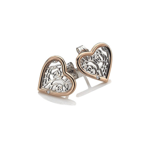 Hot Diamonds Faith Heart Rose Gold Earrings DE530