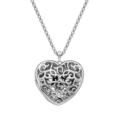 Hot Diamonds Large Heart Filigree Locket DP669 2010055