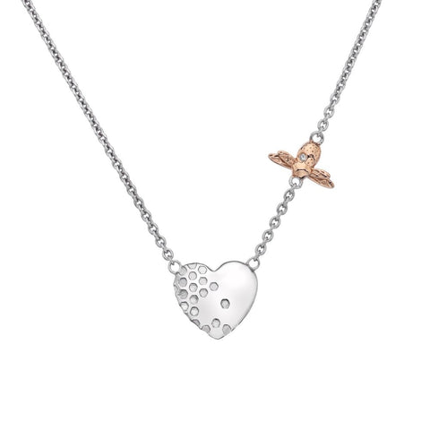 Hot Diamonds Rose Gold Honey Bee Heart Necklace DN146