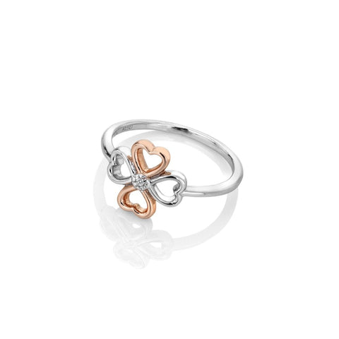 Hot Diamonds Lucky in Love Ring DR216