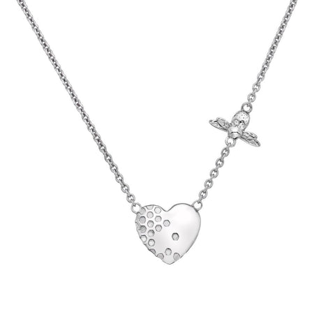 Hot Diamonds Sterling Silver Honey Bee Heart Necklace DN145