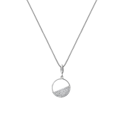 Hot Diamonds Horizon White Topaz Circle Pendant DP766