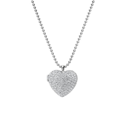 Hot Diamonds Memories White Topaz Heart Locket DP770