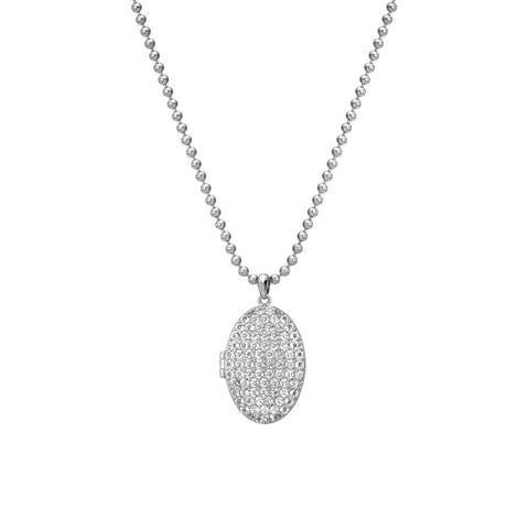 Hot Diamonds Memories White Topaz Oval Locket DP771
